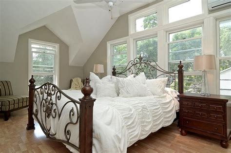 master suite features traditional white master bedroom neutral paint white bedding