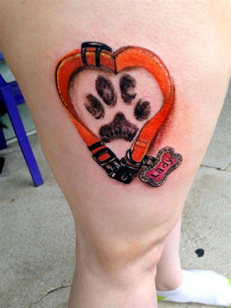 collar tattoo collar paw print by diane lange at moonlight