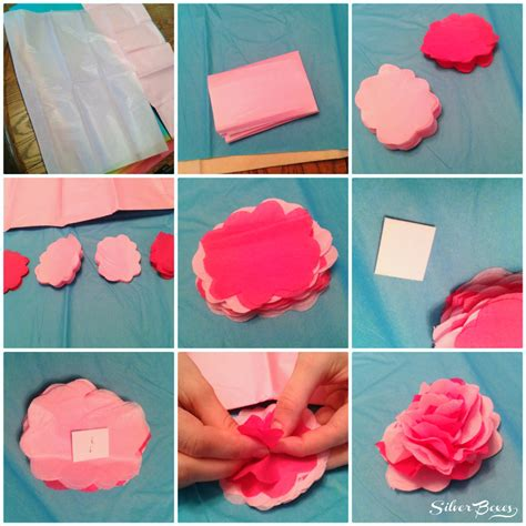 How To Make Large Tissue Paper Flowers - silver boxes how to make tissue paper flowers