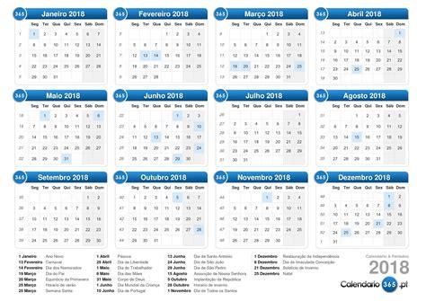Calend 2017 Feriados Em Excel Calend 225 2018
