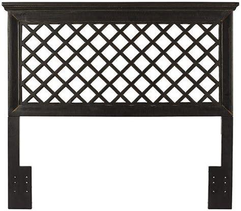 trellis headboard tan lattice wicker headboard