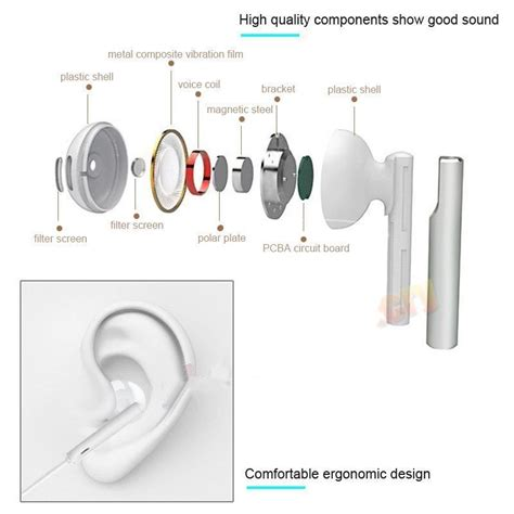 Headset All Type Stereo Kabel Gepeng Quality original huawei am115 headset in ear stereo for headphone