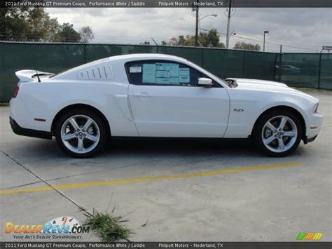 2011 mustang white performance white 2011 ford mustang gt premium coupe photo