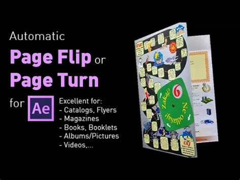 After Effects Page Turn Template Free Page Flip Page Turn Template For After Effects Youtube
