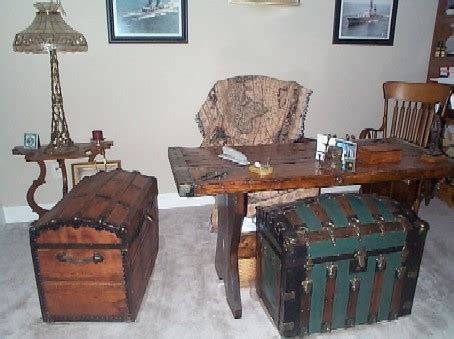 The Steamer Trunk Worldwide Authority On Antique Steamer Nautical Office Furniture