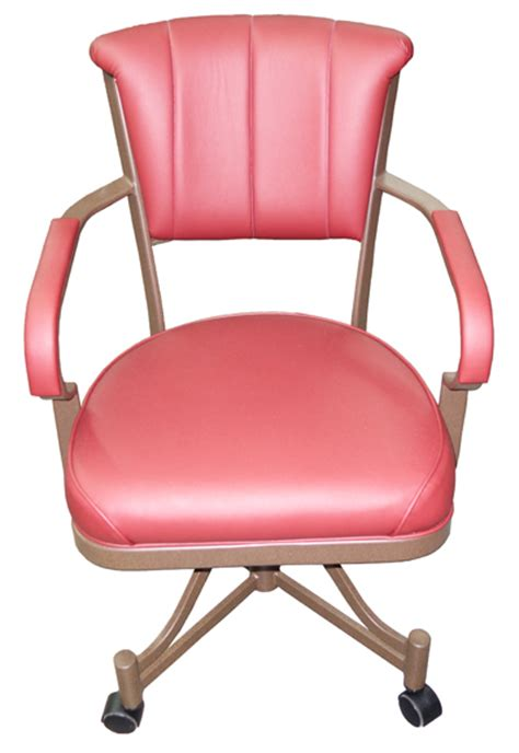 Chromcraft Furniture Kitchen Chair With Wheels Chromcraft Like Caster Chair 246 Alfa Dinettes