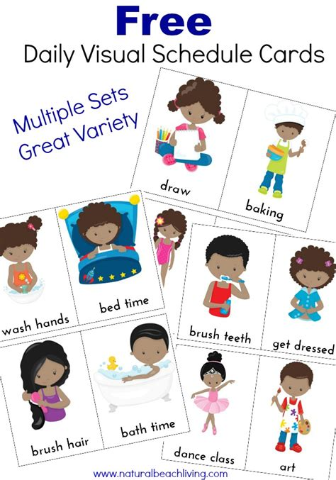 free printable daily visual schedule extra daily visual schedule cards free printables
