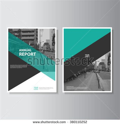 book cover design layout template green annual report leaflet brochure flyer template a4