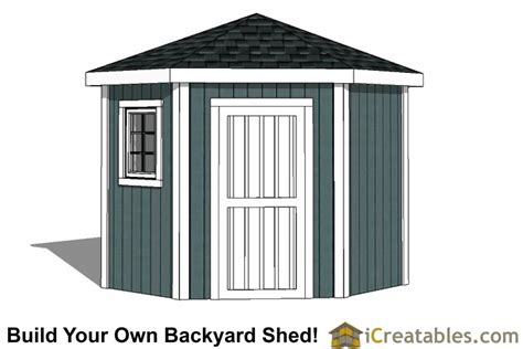 3 Sided Shed Plans Free by 8x8 5 Sided Corner Shed Plans