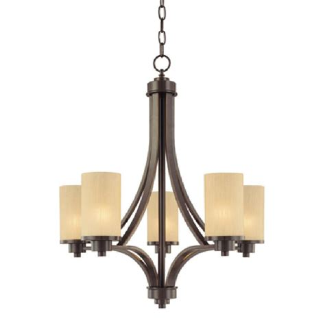 Five Light Chandelier Shop Artcraft Lighting Parkdale 5 Light Rubbed Bronze Chandelier At Lowes