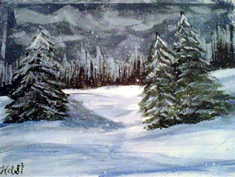 winter themed drawing winter theme by crochetamommy on deviantart