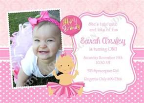 tutu princess 1st birthday party invitation invite by