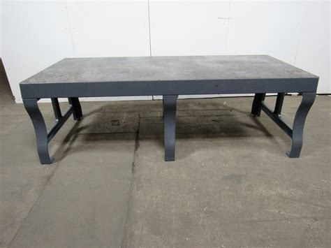 welding bench top 107 quot x46 quot vintage cast iron welding layout assembly work