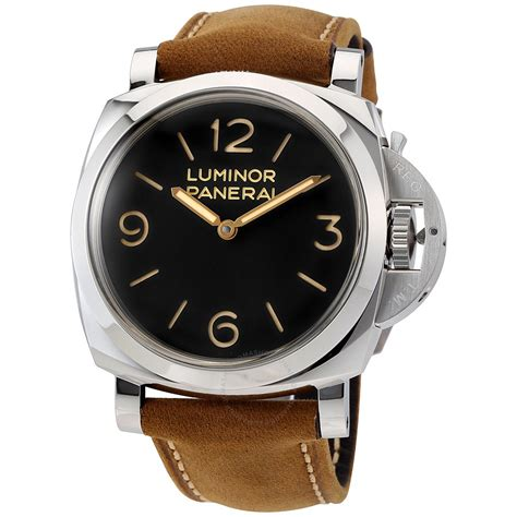 Luminor Panerai For panerai luminor 1950 black leather s