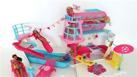 barbie boat video navio da barbie abrindo brinquedo review do super barco