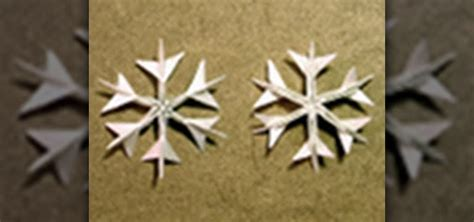 how to fold detailed origami snowflakes for creative