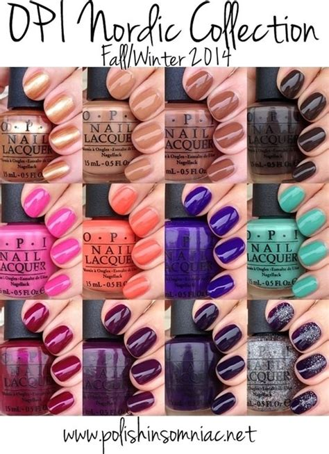 professional nail colors winter 2014 opi nordic collection fall winter 2014 swatches review