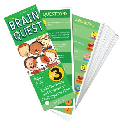 brain quest questions and answers to challenge the mind brain quest grade 3 revised 4th edition 1 000 questions