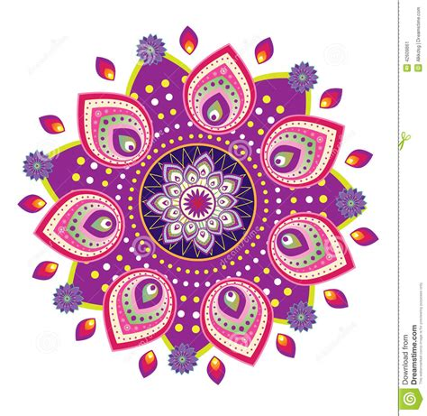 flower pattern mandala stock vector image of ornament