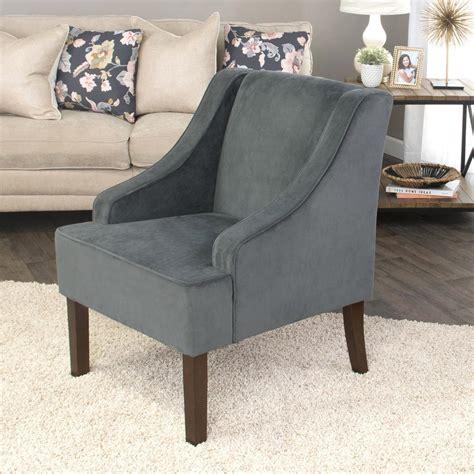 velvet accent chairs homepop grey swoop arm velvet accent chair k6499 b229