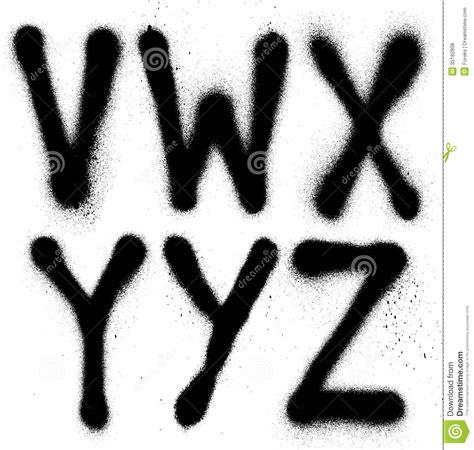 graffiti spray paint font type part  alphabet stock