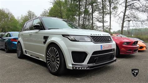 modified range rover unique modified mansory range rover svr acceleration