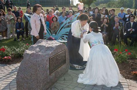 comfort women memorial comfort women memorial peace garden opens in us 2