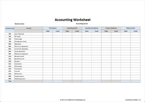 free accounting spreadsheets for small business accounting