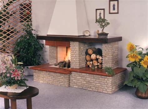 camini rivestiti in legno camini rustici lavorazione artigianale con pietre