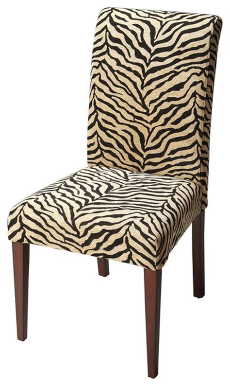 Zebra Print Dining Chairs Zebra Print Fabric Parsons Chair Contemporary Dining Chairs By Beverly Stores