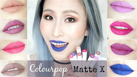 Colourpop Matte X Barely There 1 colourpop matte x lippie stix lip swatches review
