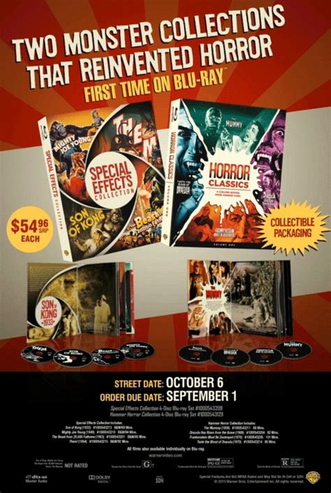 horror classics volume 1 special effects collection warner news wb collections us bd ra dvdactive