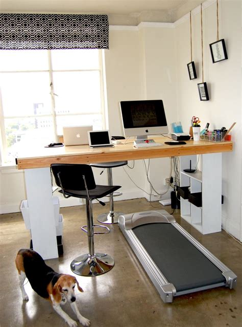 how to build a standing treadmill desk for the home