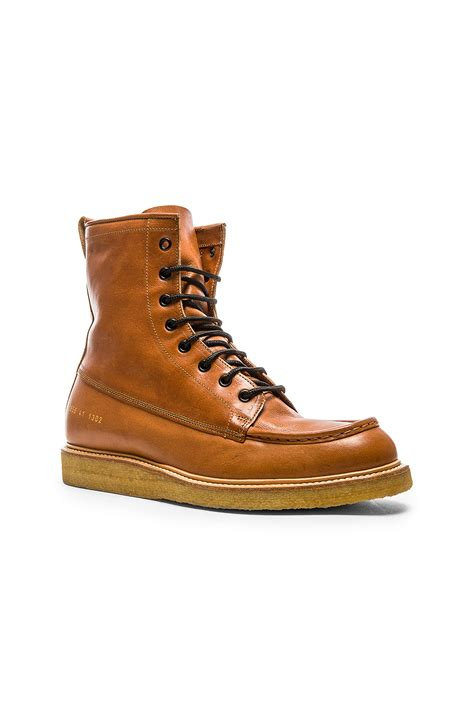 mechanic boots lyst common projects mechanic s lace up leather boots in