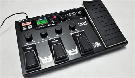 Effect Gitar Nux Modeling Prosessor Mfx 10 review nux mfx 10 guitar multi effects processor