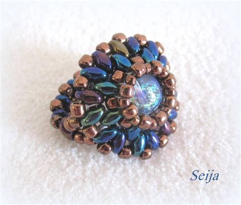 beaded ring patterns 1000 images about bead rings shaped on
