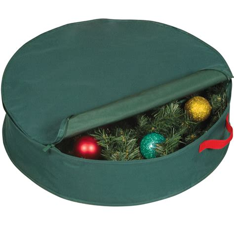 wreath storage bag in holiday wreath storage
