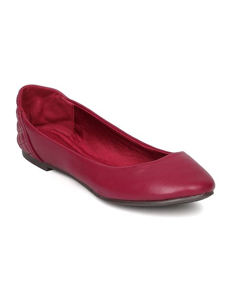 Quilted Ballet Flat new breckelles abby 23 leatherette toe quilted ballet flat ebay