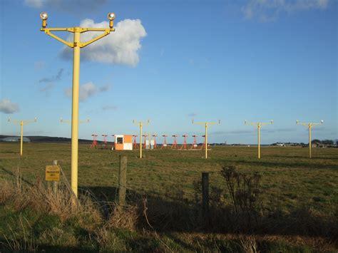 lights east file landing lights on east runway ronaldsway airport