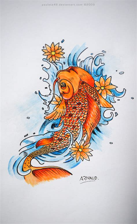koi fish by arunaudo on deviantart