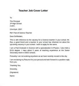 Cover Letter Template For Teaching Position by Cover Letter Exle 10 Free Documents In Pdf Word