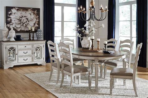 realyn oval dining room set  ladderback chairs  signature design  ashley furniturepick