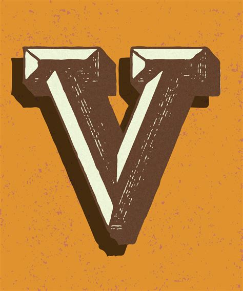 capital letter  vintage typography style