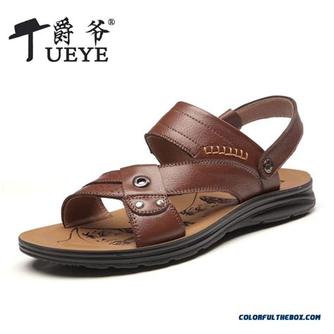 cheap shoes sandals breathable leather casual