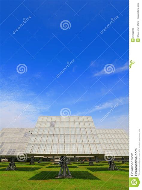 solar panel with green grass royalty free stock photos