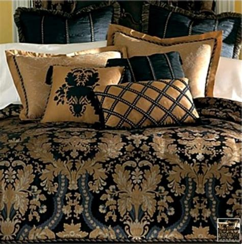 Blue And Gold Bedding Sets New Classic Royal Black Gold Luxurious Comforter Set King Ebay