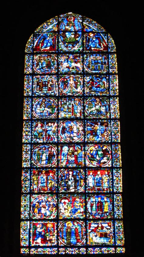 The Of The West Window chartres cathedral stained glass
