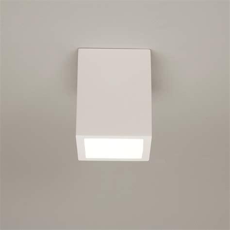 Plaster Ceiling Light Astro Osca 140 Square Surface Plaster Ceiling Light 13w Gu10 Cfl Led L White Ebay