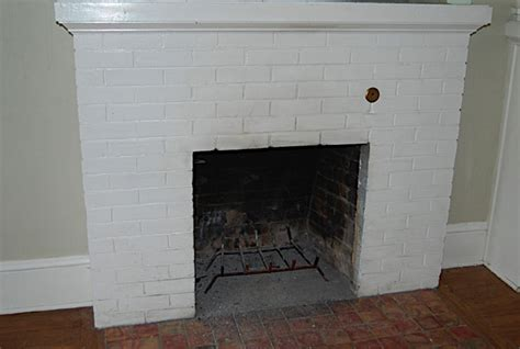 Brick Fireplaces Painted by Painted Brick Fireplace