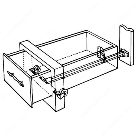 Drawer Guide Rollers by Tri Roller Drawer Set For 4051 2g Richelieu Hardware